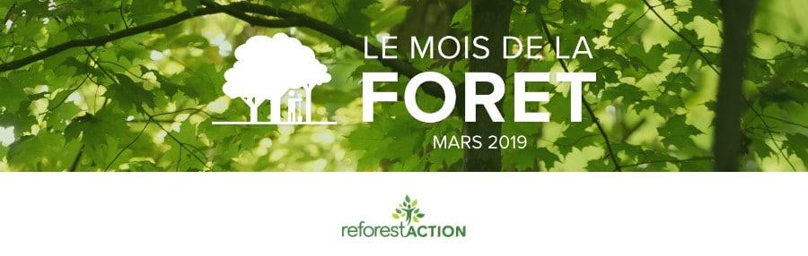 31 jours de sensibilisation des Français aux rôles et bénéfices des forêts en mars 2019.