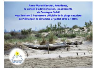 Ouverture Officielle Plage Naturiste de Piémançon